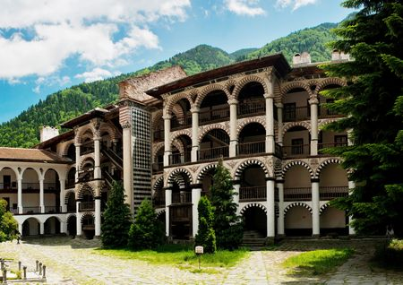 Monastery saint Yoan Rilski in Bulgaria. The monastery of Saint John (Yoan) of Rila, founded in the 10th century. Rila monastery, a famous monastery in Bulgaria photo