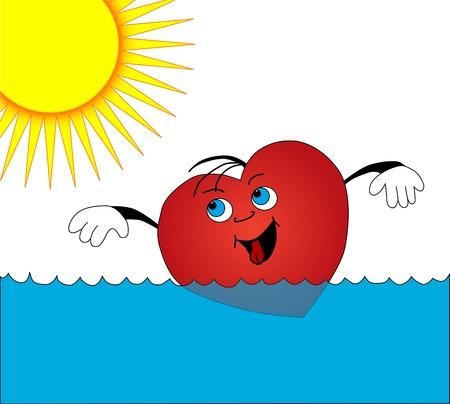 Heart swimming photo