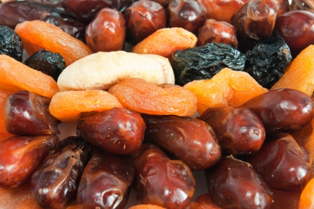 dried plums: Mix of dry fruit - date, apricot, plum