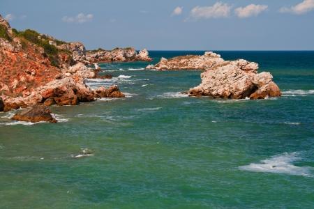skie: Summer beach on Bulgarian Black sea