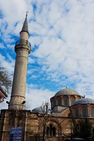 chora: Vista exterior de la iglesia de Chora o Kariye Camii en Estambul. Kariye Museum