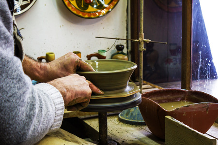 hand crafted: Manufacturing pottery in the old stile