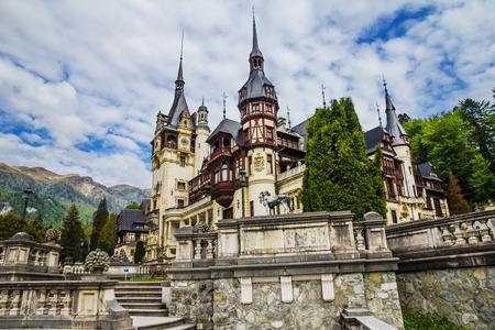 Peles Castle - Sinaia, Roemenië, Transsylvanië Stockfoto
