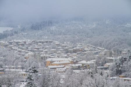 The village Tryavna in winter