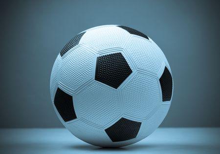 シアン色のサッカー。