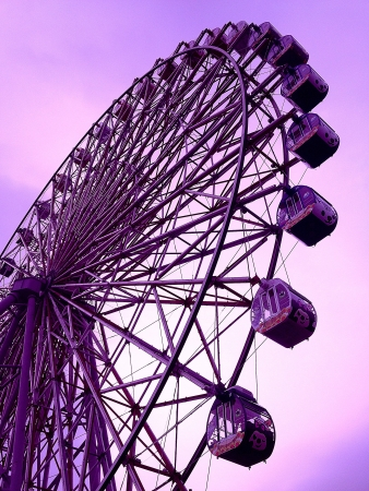 Ferris Wheel at an amusement park Stock Photo - 18970246