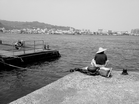 Fisherman at the habour