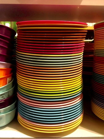Colourful plates Stock Photo - 18970236