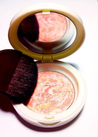 Pink blusher kit Stock Photo