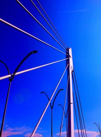Bridge in the clear blue sky