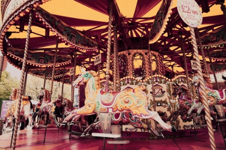 Carousal ride in an amusement park Editorial