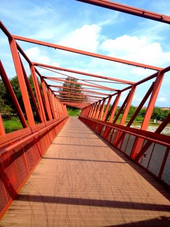Unique bridge Stock Photo