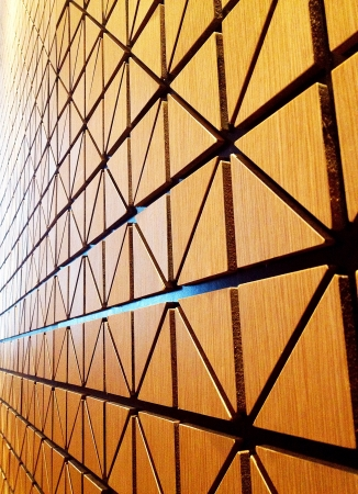 triangle shape: Triangle shape pattern wall