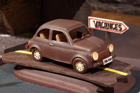 Handmade chocolate car