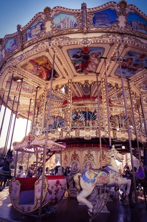 Carousal in a park Stock Photo