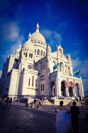 coeur: Sacre Coeur church in Paris
