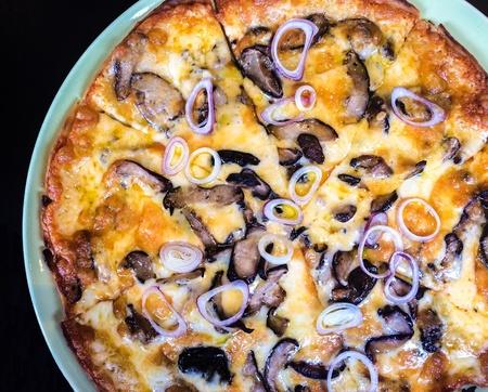 closeup: Mushroom pizza