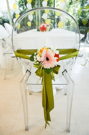 solemnization: Wedding chair and table