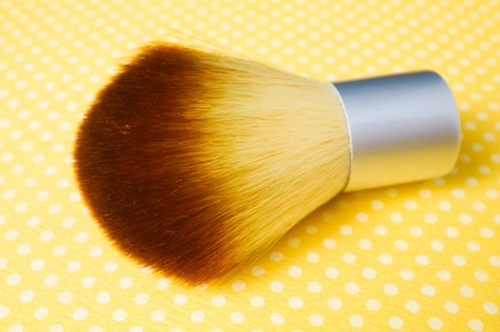 Brush in a yellow background