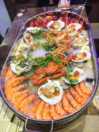Big seafood steamboat