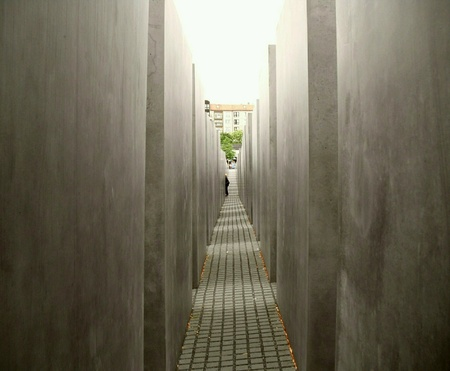 remembering: Portion of a very large space remembering those who were killed in concentration  camps during WW 2