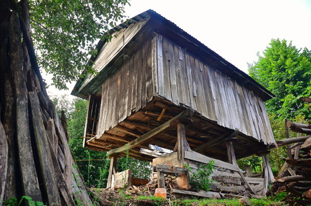 lumber room: traditional granary in the farm