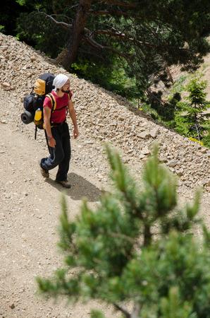 english ethnicity: hiking Stock Photo