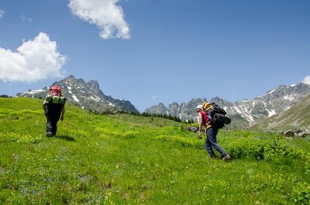 english ethnicity: journey to the mountains Stock Photo