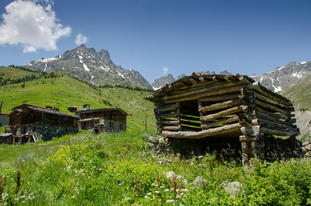 kackar: Old traditional mountain houses in Kackar Mountains.