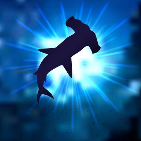 hammerhead: squalo martello Vettoriali