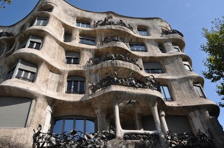 La Pedrera (Casa Mila) of Gaudi, Barcelona Editorial