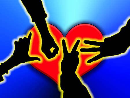 Love hands Imagens