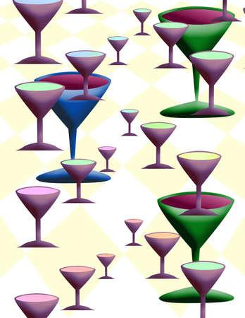clothe: Wine glass on table clothe Stock Photo