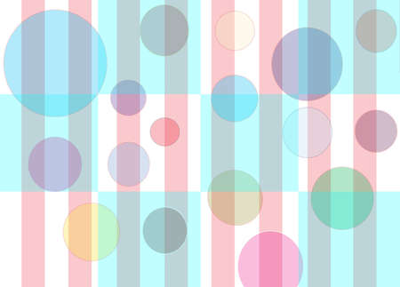effervescence: Checker pattern with floating multi-colored bubbles with pink stripes Stock Photo