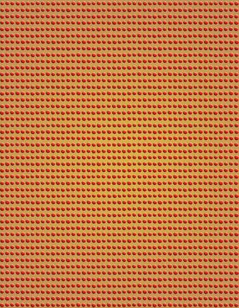 bumpy: Red Candy Dots. Beads arranged tightly in rows and columns to create a bumpy texture. Stock Photo