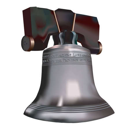 liberty bell: An Illustration of the famous Liberty bell.