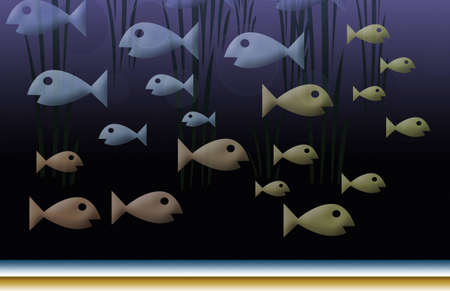 guppy: Assorted colored fish swimming back and forth