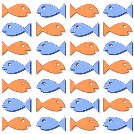 Assorted colored fish swimming back and forth Stock Photo - 4367145