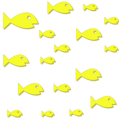 Yellow colored fish swimming back and forth Stock Photo - 4367132