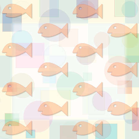 back and forth: Orange colored fish swimming back and forth