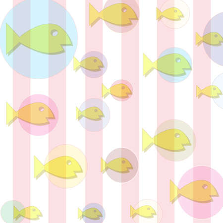 back and forth: Yellow colored fish swimming back and forth