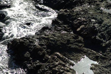 calm water between rocks