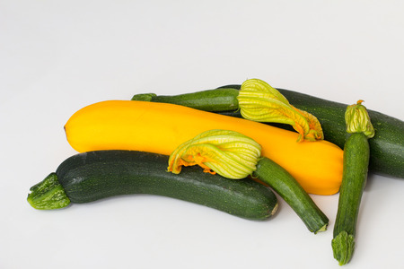 courgettes: An Assortment of Courgettes Stock Photo