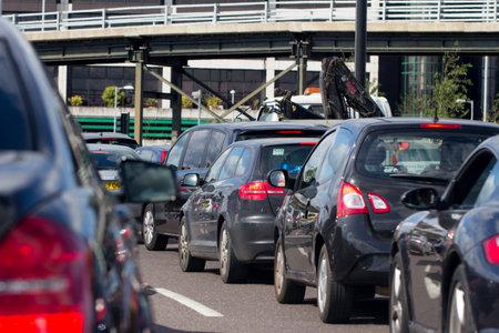 traffic jam: Heavy traffic on a London A road