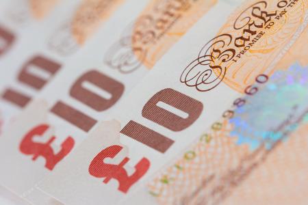 A close up image of ten pound notes sterling Reklamní fotografie
