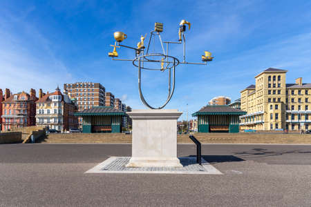 Brighton, England - August 30 2019: Hove Plinth, Brighton East Sussex, adorned with its first sculpture - Constellation by Jonathan Wright Redakční