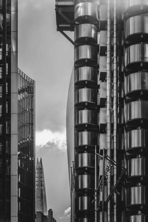 Lloyds building in London, sometimes referred to as the inside-out building, is an example of Bowellism architecture designed by Richard Rogers