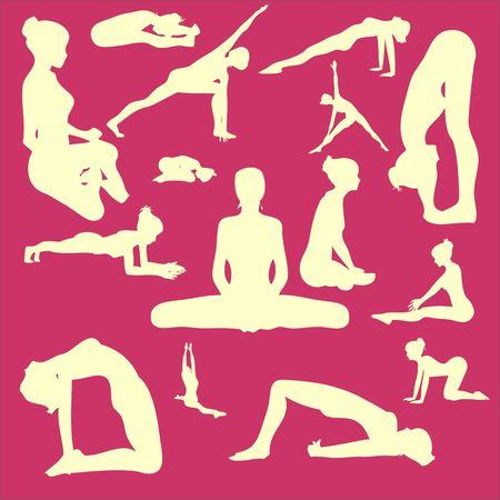 Yoga Pose Woman Clip art Vector