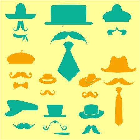 fake mustaches: Mustaches Clip art