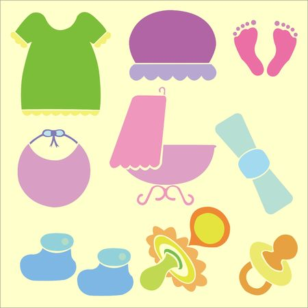 Baby Shower Vector DIgital Clipart 5 Vector